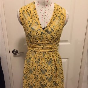 Plenty- by Tracy Reese Yellow Lace Dress