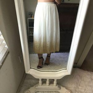 NWT Beautiful gold skirt