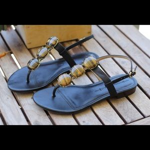 Banana Republic Black Sandals with Stones