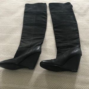 Beautiful nubuck leather Ash over the knee boots!