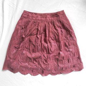 Yoana Baraschi Pink/Purple Floral Appliqué Skirt
