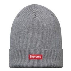 Auth Supreme Grey Beanie Hat