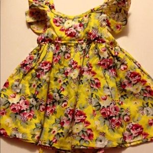 Other - Yellow Floral Boutique Dress