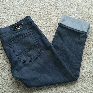 7 for all mankind Roxanne capri cropped size 28