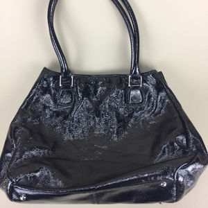 Hobo Black Patent Leather Women's Handbag Tote