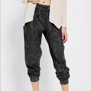 Sparkle and fade acid wash joggers