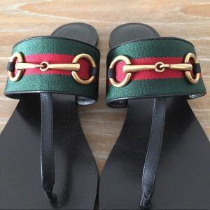 2fb39c15179c76 Gucci Shoes - Gucci  17 Leather Horsebit Sandal