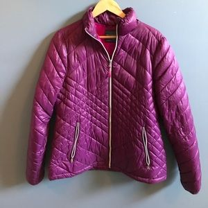 Purple Quilted Puffer