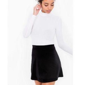 American Apparel Black Velvet Hyperion Skirt
