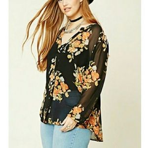Forever 21 Plus Size Sheer Top