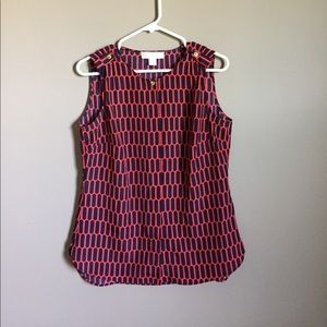 MK Navy and red sleeveless top