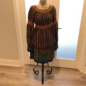 Anna Sui 100% Silk Empire waist Dress