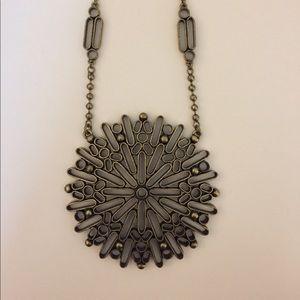 BANANA REPUBLIC Antiqued Brass Medallion Necklace