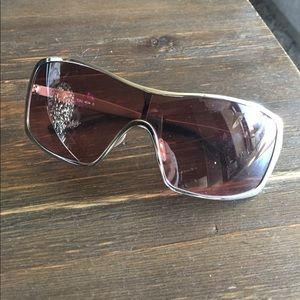 Real Oakley Silver and Rose Sunglasses