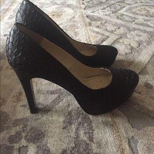 Calvin Klein black leather pumps