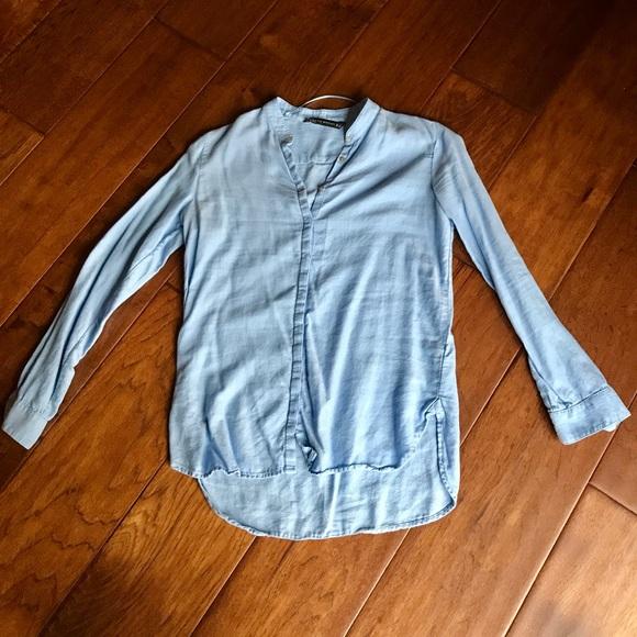 Zara Tops - Zara Blue Button Up.