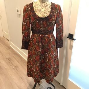 Plenty by Tracy Reese Raw Silk and Wool dress.