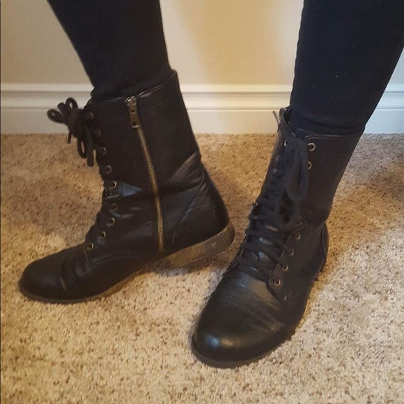 dd948a1ad02ed Steve Madden Shoes | Womens Troopa Combat Boots | Poshmark