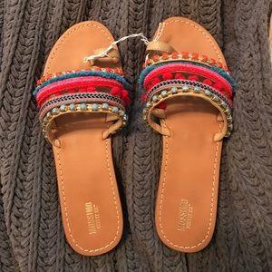 bohemian colorful sandals