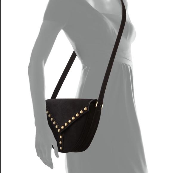 5a79494a51ef Saint Laurent Y Studs Suede Crossbody Bag