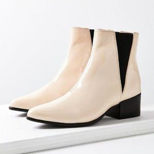 Urban Outfitters Cream Patent Booties