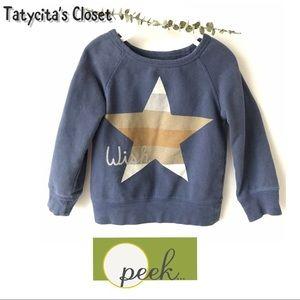 Nordstrom Peek Little Girl Star Sweatshirt 2T - 3T