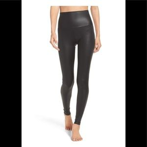 Onzie high waisted leather/ skin looking leggings.