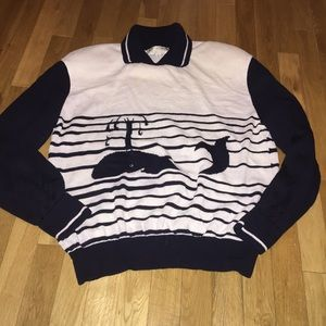 Women's St. John collared sweater whale