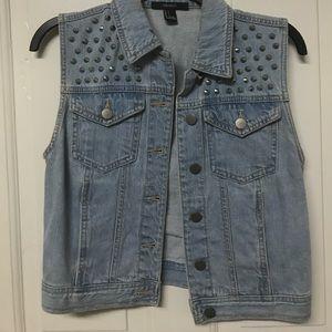 Studded jean vest from forever 21