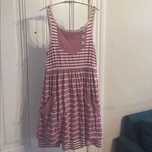 Marc by Marc Jacobs fuchsia striped summer dress S