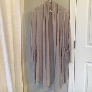 H&M sheer grey duster cardigan