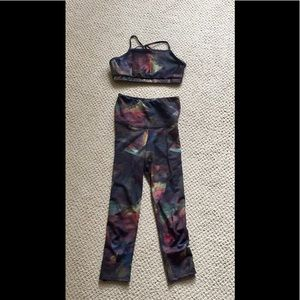 Matching onzie top and high waisted Capris