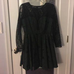 Asos Lace Longsleeve Dress
