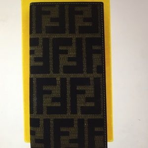🆕 Fendi FF Zucca Logos Bifold Long Wallet Purse