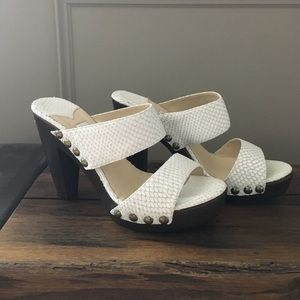 AUTHENTIC Jimmy Choo white mules