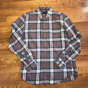 J. Crew factory brushed twill plaid button down L