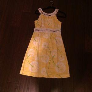 Lilly Pulitzer linen dandelion dress