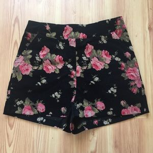 Floral High Waisted Shorts B20
