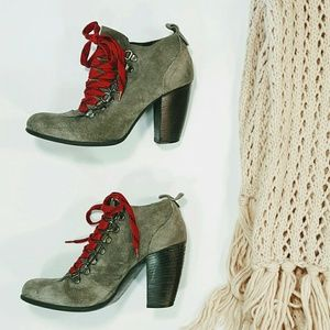 Boutique 9 Demarko grey suede Booties