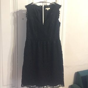 Shoshanna black lace dress 0
