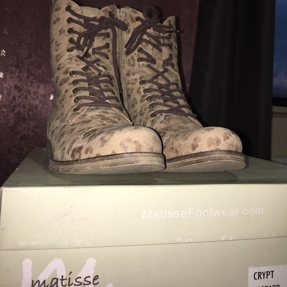 872c1f18dfe0 matiss Shoes | Genuine Leather Leopard Boots | Poshmark