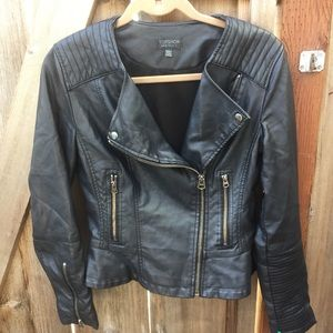 Topshop Moto Biker Faux Leather Jacket