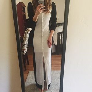 Buttoned Floor Length Sweater
