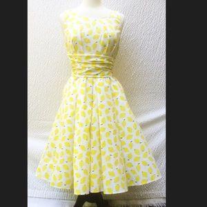 New Eshakti Lemon Fit & Flare Dress M 8