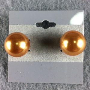 Jewelry - Chunky Orange Ball Stud Earrings