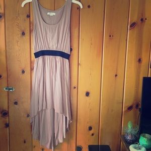 flowy mauve hi-low dress
