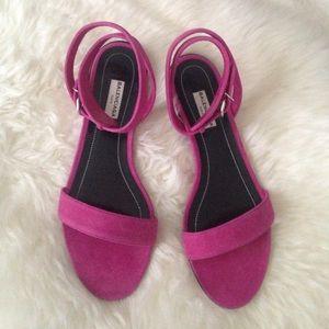 Balenciaga pink suede sandals