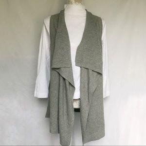 Gap // Waterfall Sweater Vest Cardigan - grey