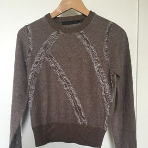 L.A.M.B. cropped lightweight Sweater, Brown