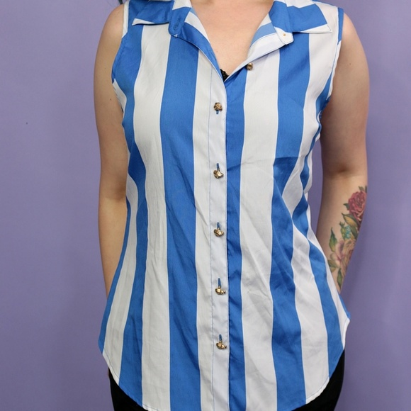 Tops - Blue Striped Top
